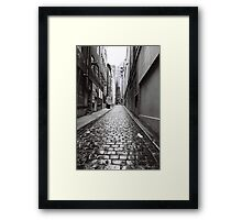 City Lane, Melbourne Framed Print