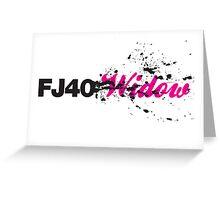FJ40 Widow Splat Greeting Card