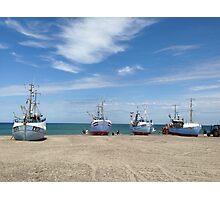 Danish fishing boats Photographic Print