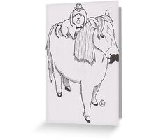 Sirs Doggy and Pony of Ashgill Greeting Card