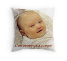 Baby Congratulations Throw Pillow