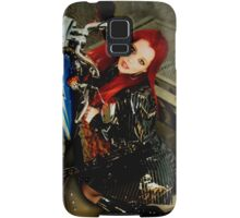red hair babe ariel on harley bike Samsung Galaxy Case/Skin