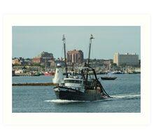 NewHaven Massachucetts : Trawler Art Print