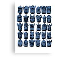 Wee Helmeted Blue Folk Canvas Print