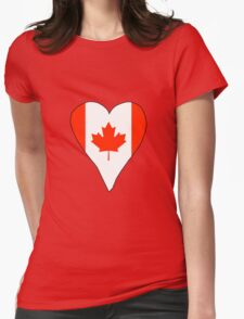 I Heart Canada Womens Fitted T-Shirt