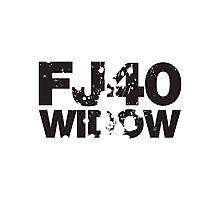 Fj40 Widow Bold Splat Photographic Print