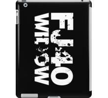 FJ40 Widow Bold Splat (W) iPad Case/Skin