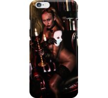 Goth sexy girl with mask iPhone Case/Skin