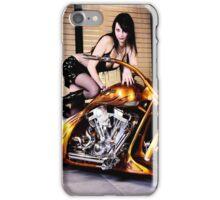 Harley Davidson girl 01 iPhone Case/Skin