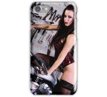 Harley Davidson girl 02 iPhone Case/Skin