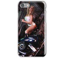 Harley Davidson girl 03 iPhone Case/Skin