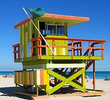 Lifeguard Stand on Miami Beach by PhilipBrown