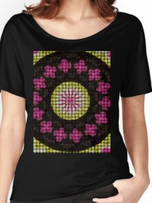 Yellow and pink mandala Women's Relaxed Fit T-Shirt