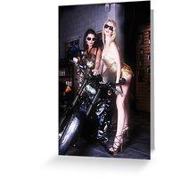 Harley Davidson girl 09 Greeting Card