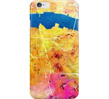 London city maps colored iPhone Case/Skin