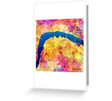 London city maps colored Greeting Card