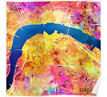 London city maps colored Poster
