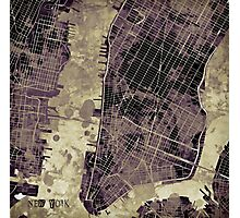 New York city map ink Photographic Print