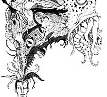 H.P. Lovecraft's monsters by Grotesquer