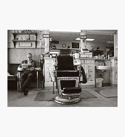 Small Town America ~The Barber Shop Photographic Print