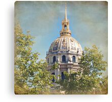 Mansart's Gilded Dome Canvas Print