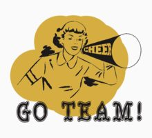 "Cheerleading ""GO TEAM"" Retro Kids Clothes"