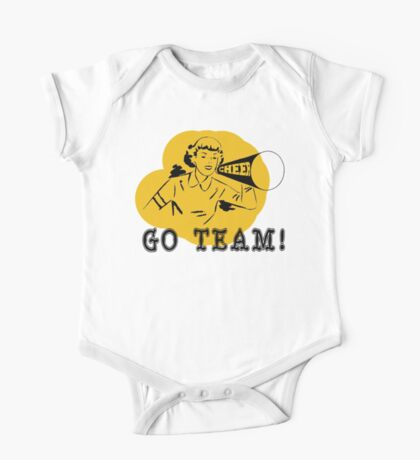 "Cheerleading ""GO TEAM"" Retro One Piece - Short Sleeve"