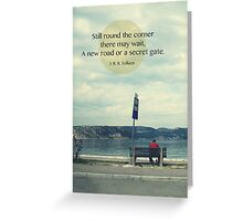 Road with quote Greeting Card