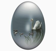 easter egg swan by Jicha
