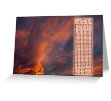 Brooding orange sunset calendar 2016 Greeting Card