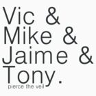 vic&mike&jaime&tony by cucumberpatchx