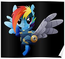 Warrior Rainbow Dash Poster