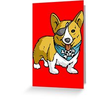 Pirate corgi funny nerd geek geeky Greeting Card