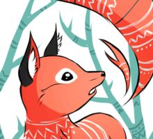 Winter Fox Sticker