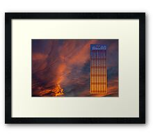 Brooding orange annual calendar 2016 Framed Print