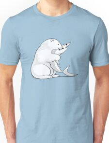 Bear Hugging a Shark Unisex T-Shirt
