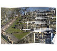 Bingley Five Rise Locks Poster