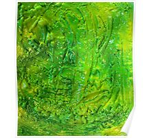 Green Contemporary Abstract Modern Painting Poster