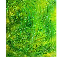 Green Contemporary Abstract Modern Painting Photographic Print