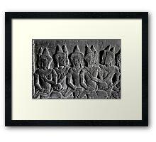 Bas-reliefs of Angkor Wat, Cambodia Framed Print
