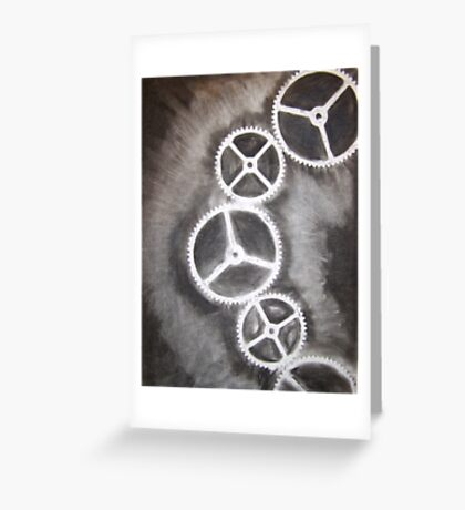 Charcoal Gears Greeting Card