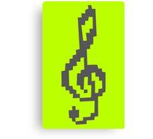 Pixel Treble Clef funny nerd geek geeky Canvas Print