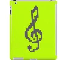 Pixel Treble Clef funny nerd geek geeky iPad Case/Skin