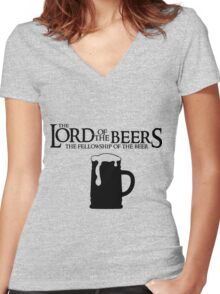 Lord of the Beers - Fellowship of the Beer Women's Fitted V-Neck T-Shirt