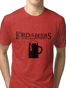 Lord of the Beers - Fellowship of the Beer Tri-blend T-Shirt