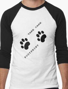 Footprint  Men's Baseball ¾ T-Shirt
