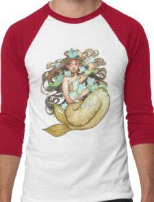 Mer Kittens Men's Baseball ¾ T-Shirt