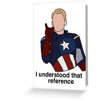 Steve Rogers Greeting Card