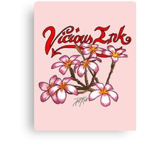 Frangipani Blossoms Canvas Print