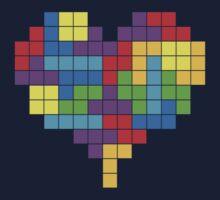 I Love Colourful Blocks T-Shirt